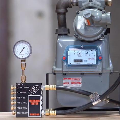 Pressure Tester on Meter